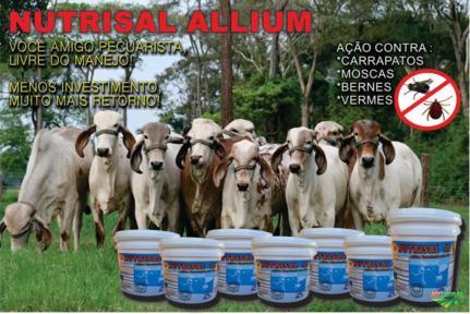 NUTRISAL ALLIUM (ELIMINE MOSCAS, CARRAPATOS E BERNES)