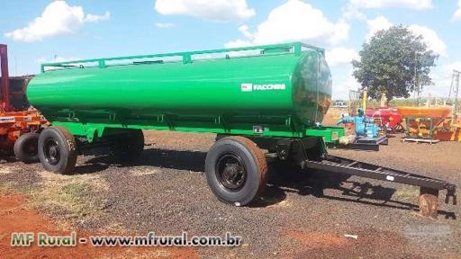 Carreta Tanque 10.500 Litros Novo Facchini e Com Bomba Nova Andrade