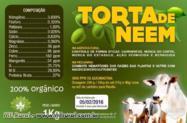 TORTA DE NEEM COM 2500 A 3000 PPM DE AZADIRACTINA A