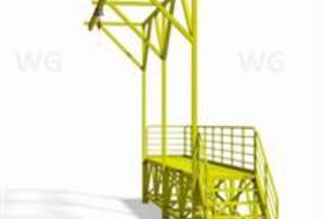 plataforma para caminhões móveis e fixa com linha de vida e cobertura