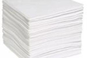 Kit 200 Mantas Absorventes Óleo 40 X 50 X 0,2 cm Linha Branca Spilltech Qualidade Superior