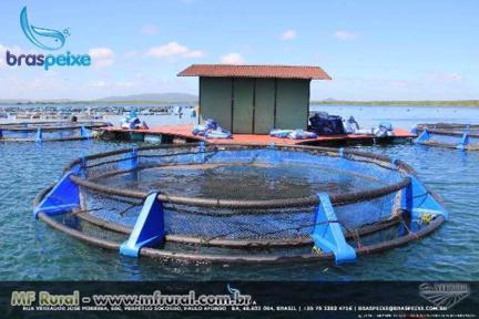 Tanque Rede Braspeixe de 50m3 Circular PEAD para Piscicultura
