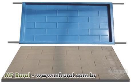 Formas para fabricação de pré-moldados para casas e barracões