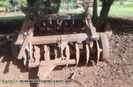 grade aradora 16 discos com pneu de transporte