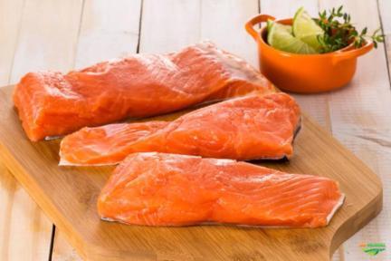Salmão-do-Pacífico importado do Chile
