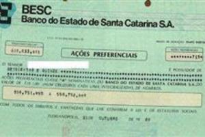 AÇÕES DO BANCO BESC ( Banco do Estado de Santa Catarina )