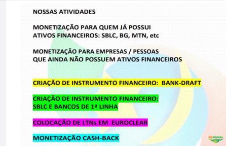 FINANCIAMENTO INTERNACIONAL E MONETIZAÇÃO DE ATIVOS