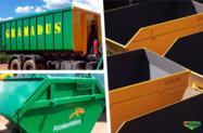 Caçamba de entulho (estacionárias) e container caixa caçamba Roll On Roll Off - MODELAÇO