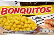 Salgadinhos de trigo bonquitos sabor Bacon