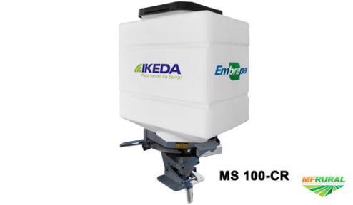 Semeadora Adubadora Para Trator Ms 100 Cr Ikeda Embrapa Com Controle Remoto