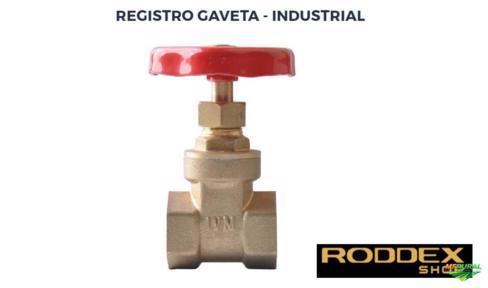 "Registro de Gaveta Industrial / Residencial - 4"" Polegadas - Latão Forjado / Volante Metal - Italy"