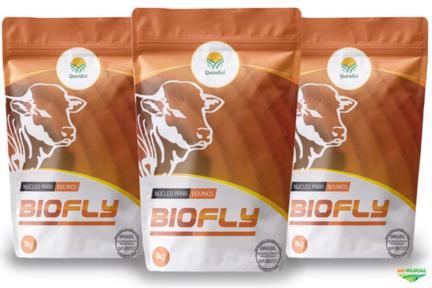 BIOFLY, é um núcleo mineral, vitamínico para mistura p/ controle de carrapatos e mosca do chifre.